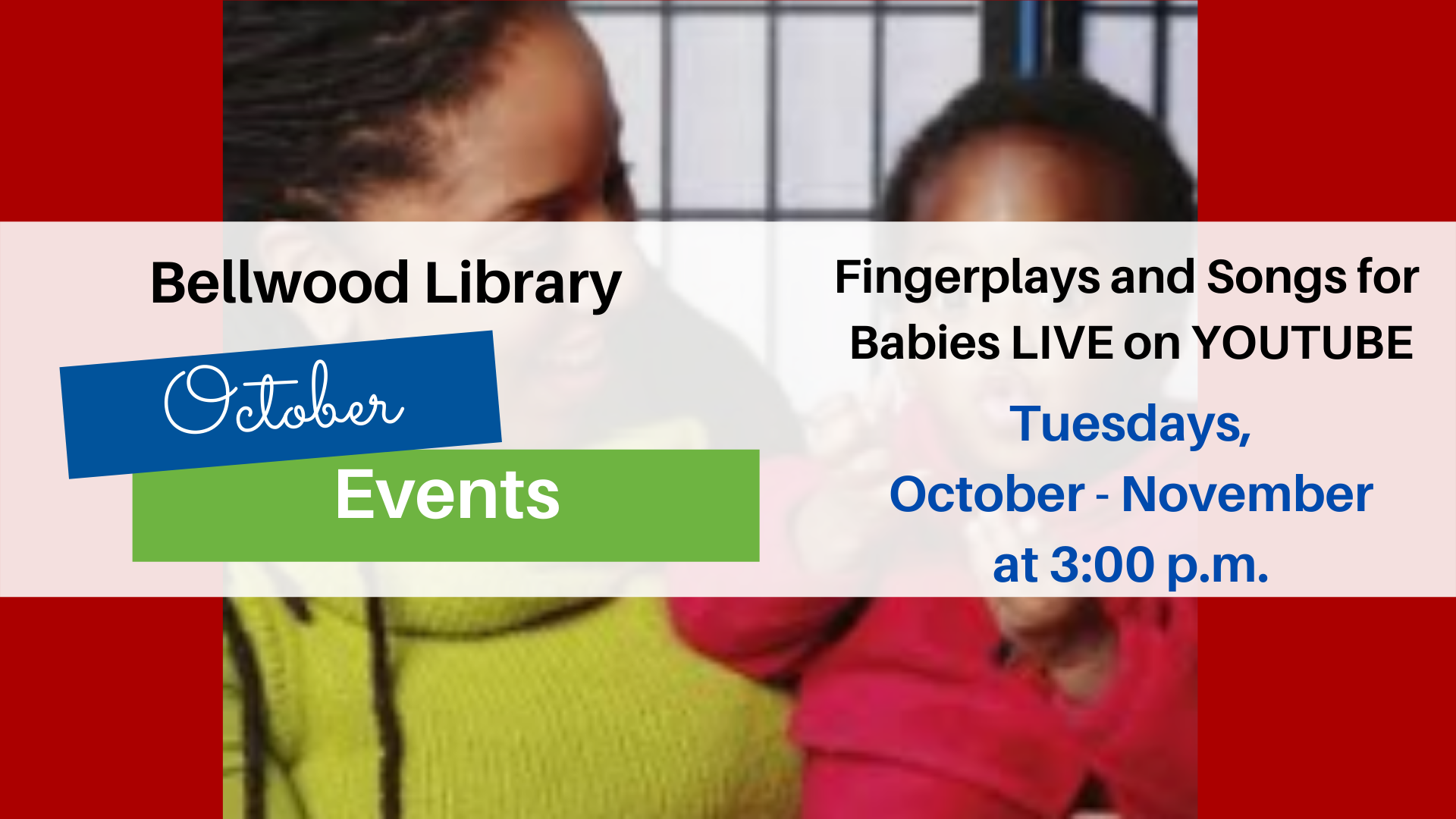 Fingerplays and Songs for Babies LIVE on YOUTUBE