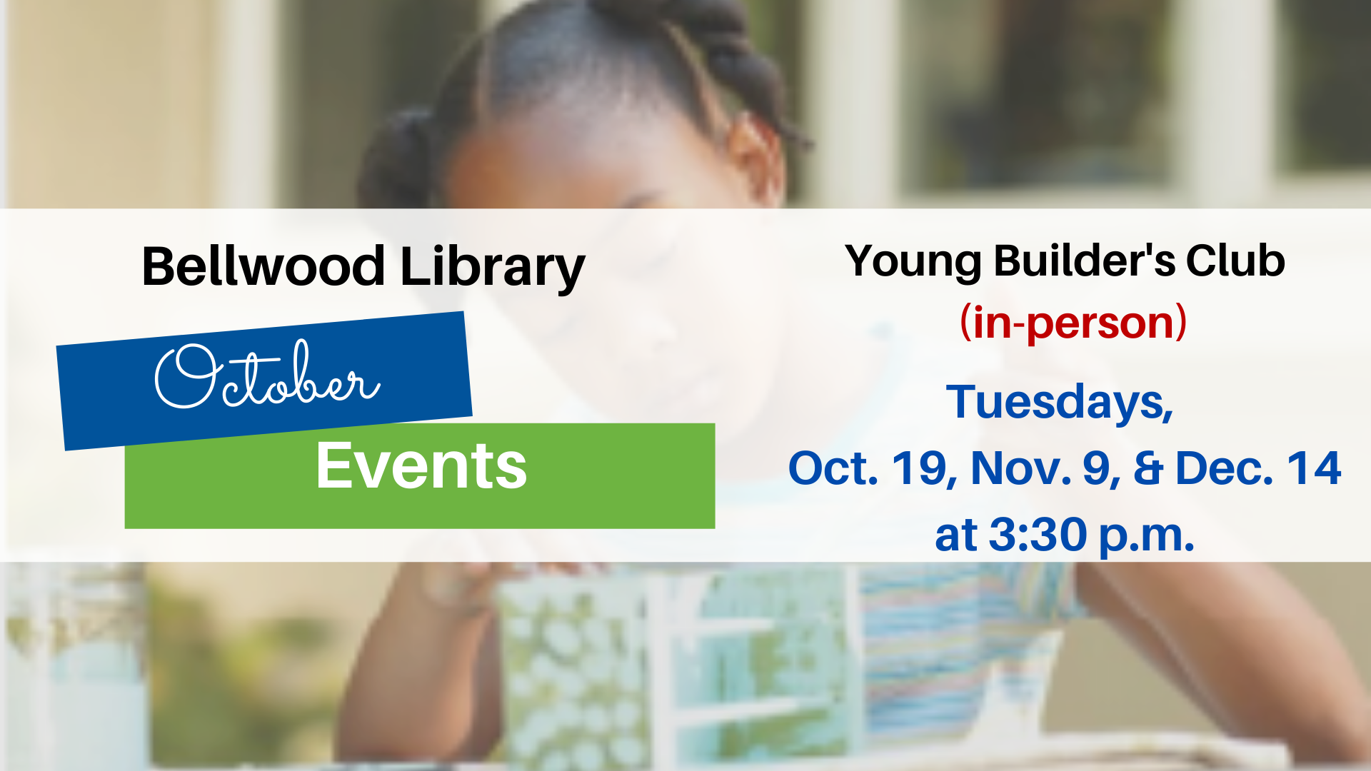 Young Builders Club (in-person)